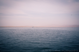 the lonely boat in Paracas