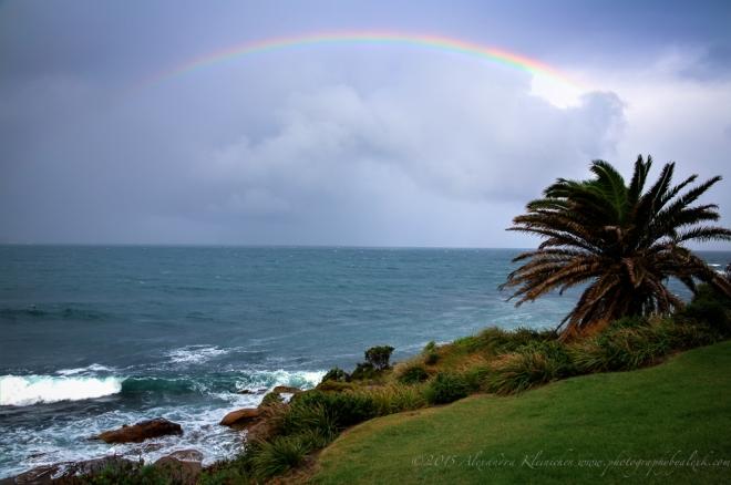 rainbow over Australia