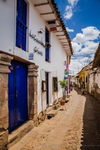 Colourful lane in Cusco, Peru