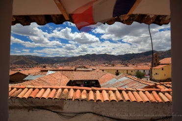 view over Cusco from 'La Caverne del Oriente'