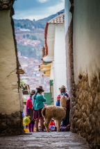 life in the streets of Cusco, Peru