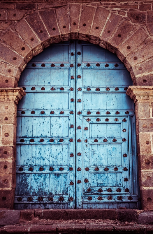 colourful door on San Blas, Cusco