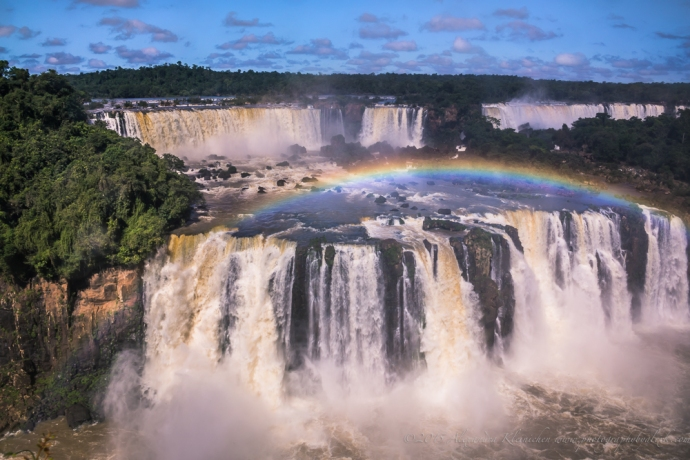 rainbow over Iguazu
