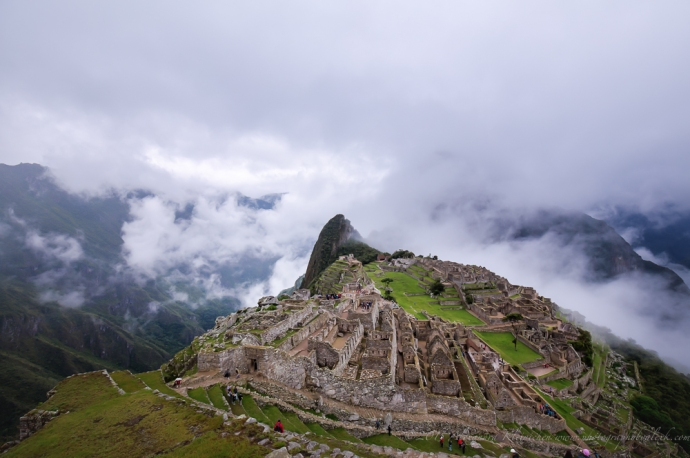 Machu Picchu is hiding behind the clouds