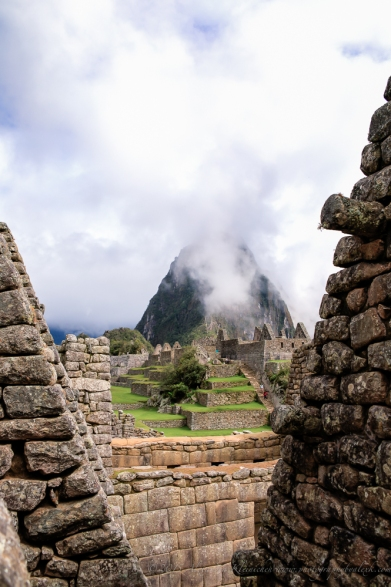 view of Machu Picchu through a doorway