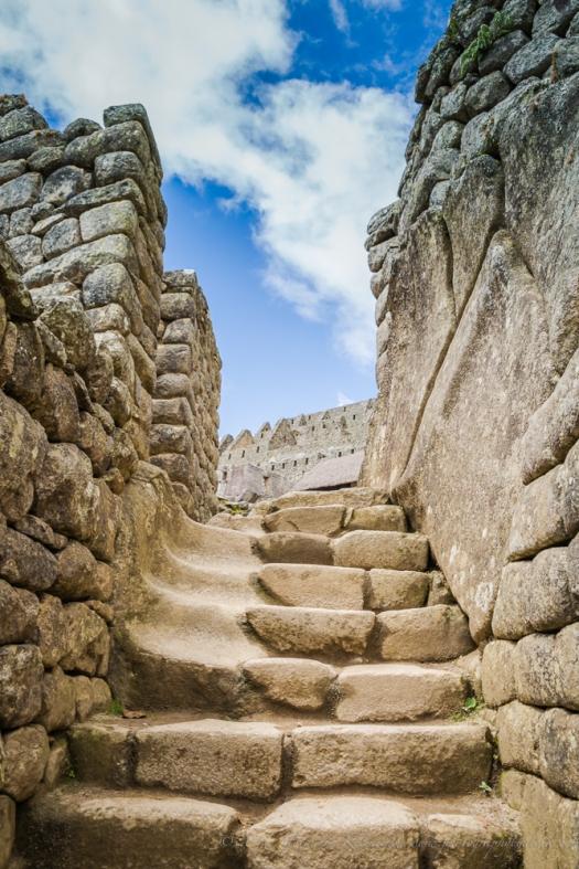 steps in Machu Picchu