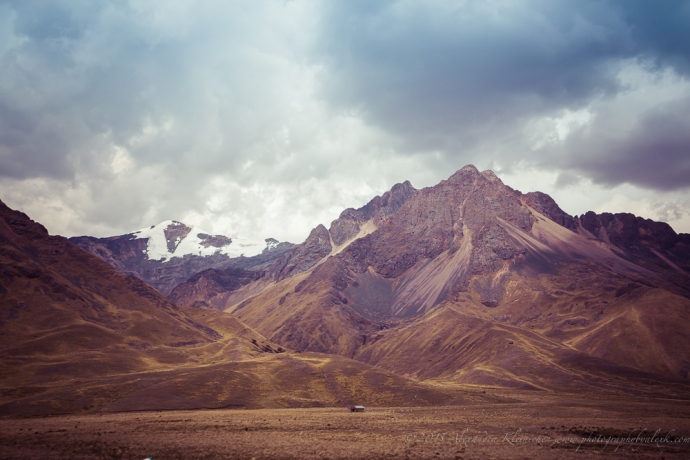 Altiplano mountain range in Peru
