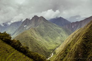 breathtaking view on the Inca trail