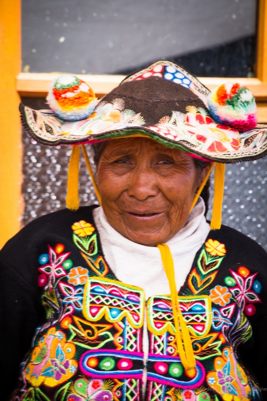 Peruvian lady from Lake TIticaca