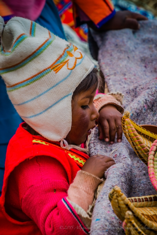 little girl from Uros Island, Lake Titicaca