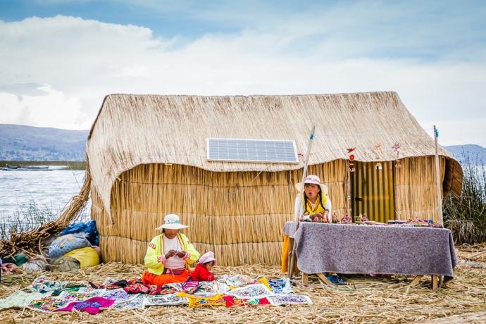 Life on Uros Island, Peru