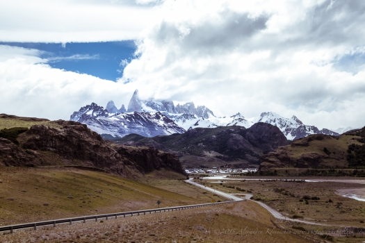 the road to Fitzroy Nationalpark in Patagonia