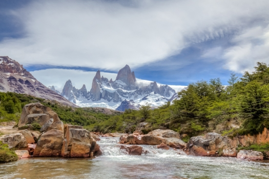 A beautiful day in Fitz Roy National Park in Patagonia.