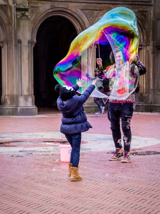 catching a soap bubble is like chasing our dreams