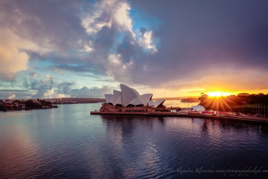 sunrise at Sydney Harbour