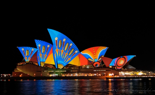 Sydney Opera house at Vivid light festival