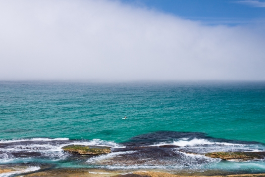 fog over Tamarama in Sydney, Australia